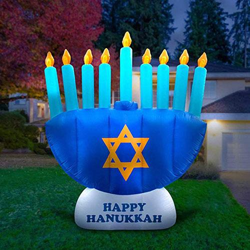 Giant Inflatable Hanukkah Menorah