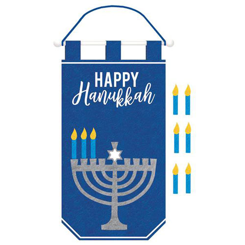Hanukkah Banner With Candle Add Ons