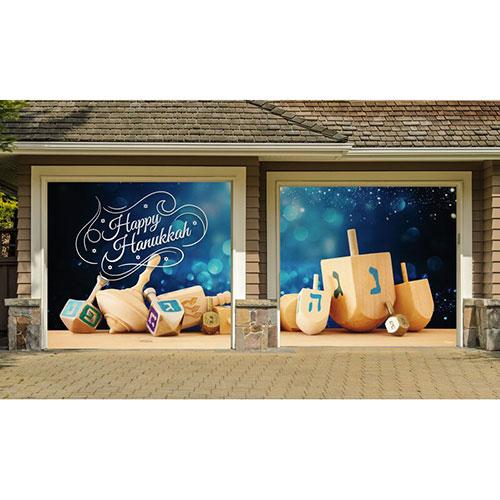 Hanukkah Dreidel Car Garage Door Mural Set