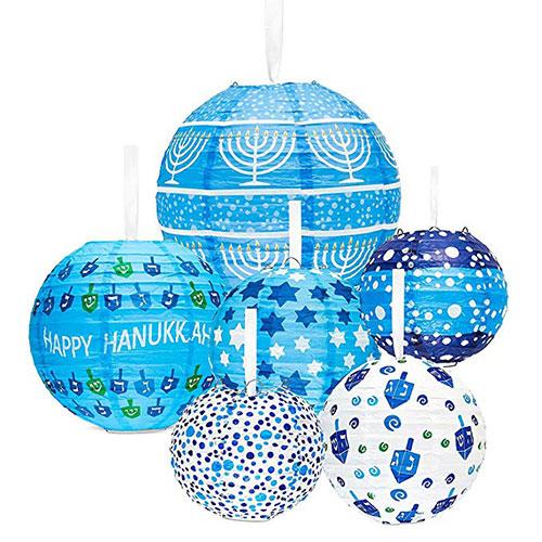 Hanukkah Hanging Ball Lanterns