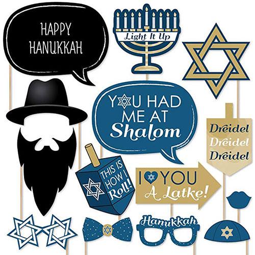 Happy Hanukkah Photo Booth Props Kit