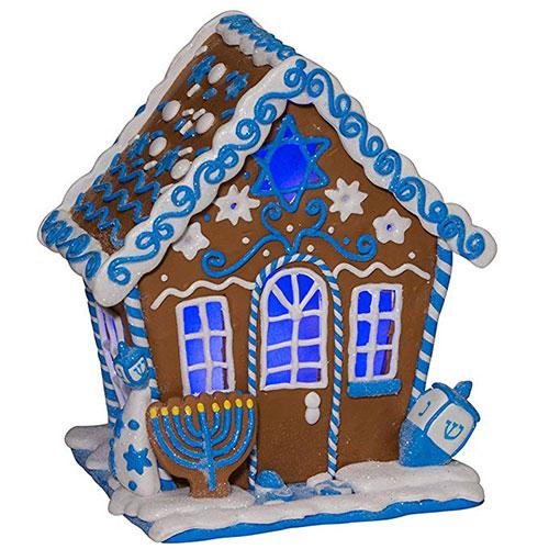 LED Hanukkah Gingerbread House