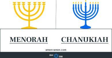 Menorah Vs Chanukiah