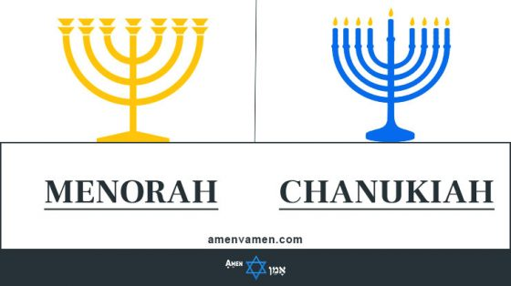 Menorah Vs Chanukiah