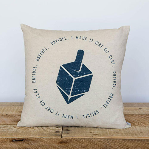 Out Of Clay Hanukkah Pillow