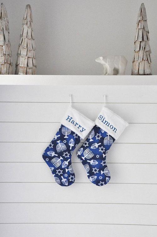 Personalized Hanukkah Stocking