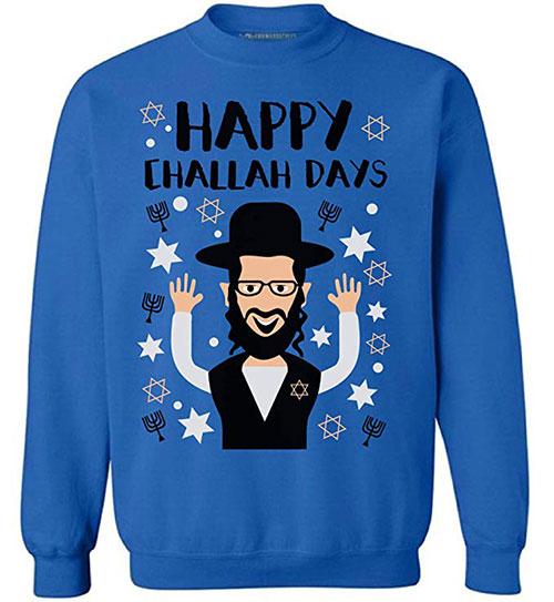Happy Challah Days Hanukkah Sweater
