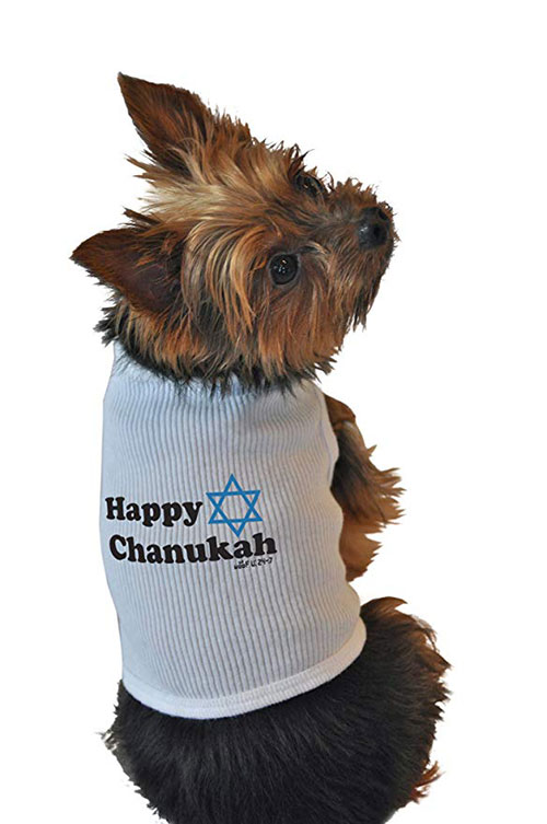 Happy Hanukkah Doggie Tank Top