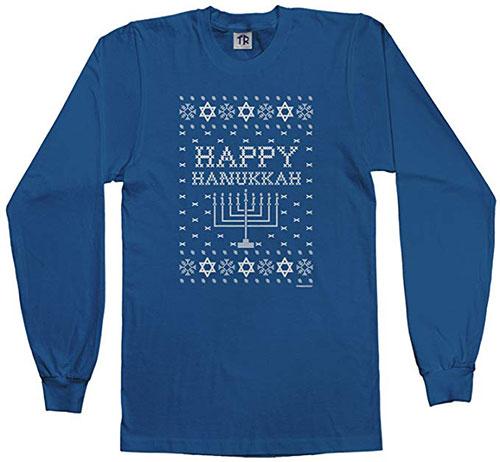 Happy Hanukkah Ugly Sweater Long Sleeve T Shirt