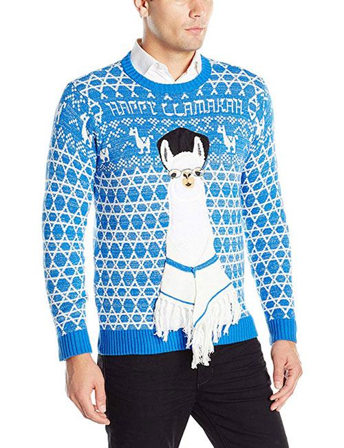 Happy Llamakah Men's Ugly Christmas Sweater