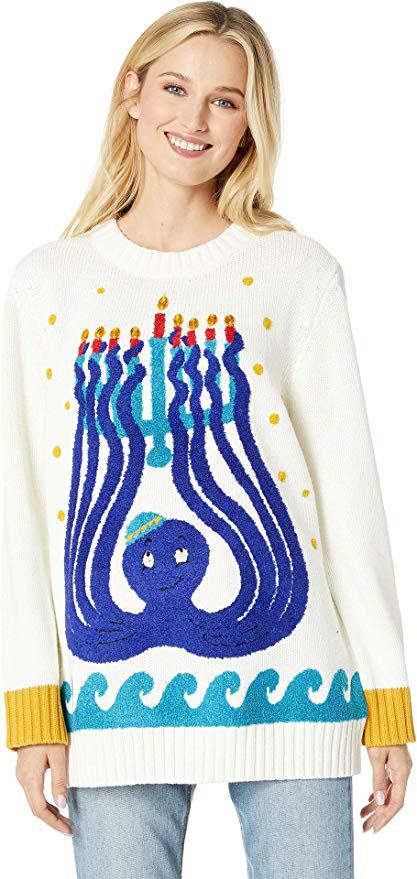 Octopus Menorah Sweater
