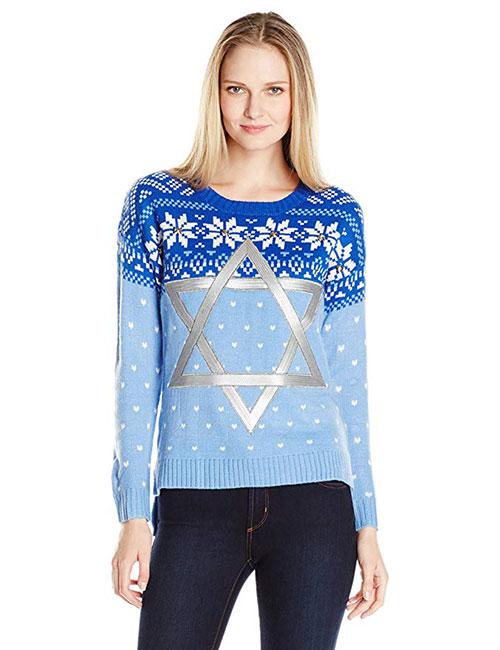 Women's Star Of David Hanukkah Sweater