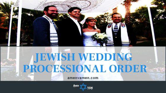 Jewish Wedding Processional Order