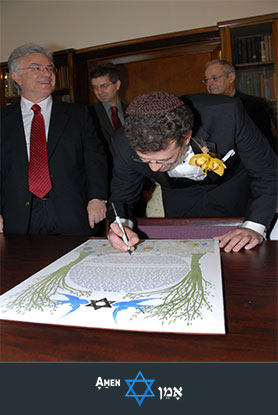 Male Witness Signing The Ketubah 2