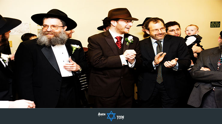 Tisch Orthodox Jewish Wedding